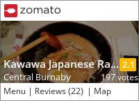 Kawawa Ramen on Urbanspoon