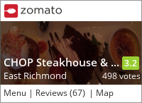 Chop Steakhouse on Urbanspoon