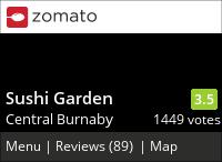 Sushi Garden (Kingsway) on Urbanspoon