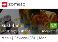 Sushiholic Japanese Restaurant. on Urbanspoon
