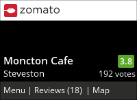 Moncton Cafe on Urbanspoon