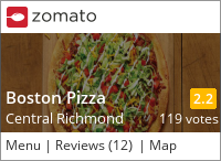 Boston Pizza (Ackroyd) on Urbanspoon