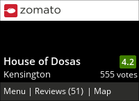 House of Dosas on Urbanspoon