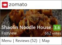 Sha Lin Noodle House 少林麵莊 on Urbanspoon
