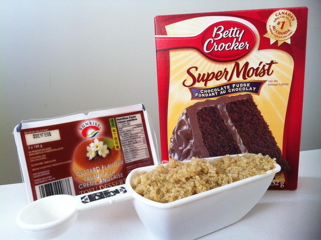 Low Calorie Box Cake Mix Recipes: Easy Chocolate Tofu Quinoa Cake Recipe- Vegan And Low Fat
