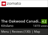 The Oakwood Canadian Bistro on Urbanspoon