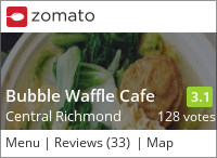 Bubble Waffle Cafe on Urbanspoon