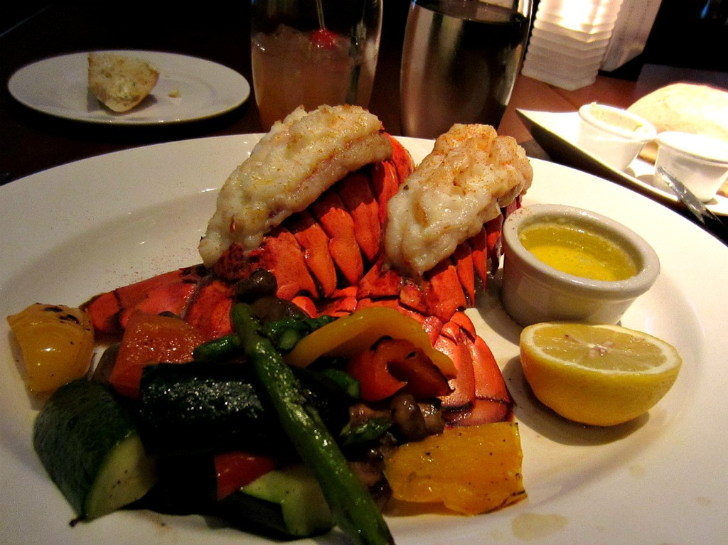 fancy lobster and steak meal