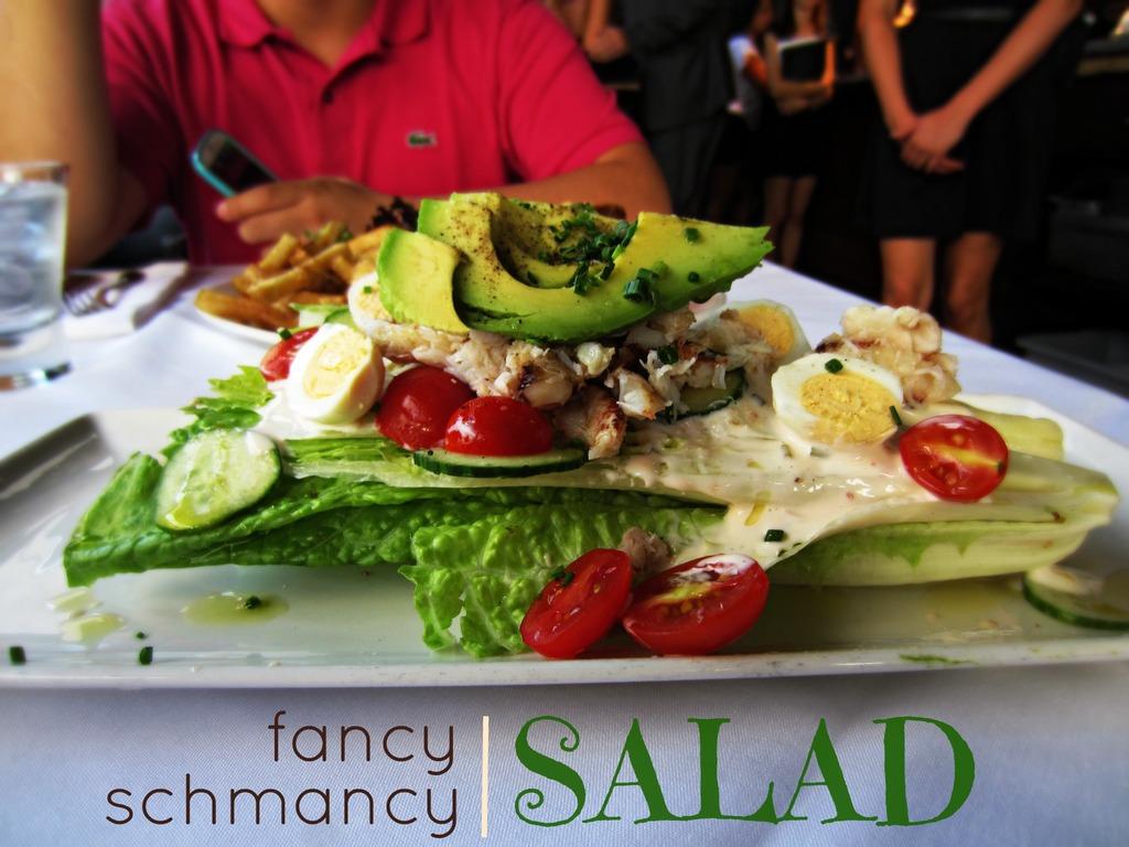 Black Blue Fancy Schmancy Salad Eating With Kirby