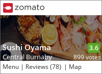 Sushi Oyama on Urbanspoon