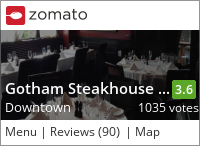 Gotham Steakhouse & Cocktail Bar on Urbanspoon