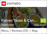 Patron Tacos & Cantina on Urbanspoon