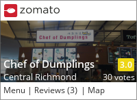 Chef of Dumplings on Urbanspoon