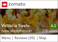 Victoria Sushi on Urbanspoon