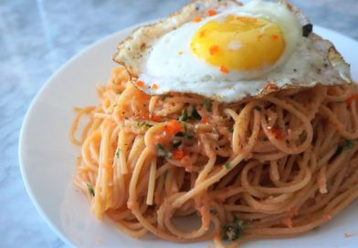 Masago Carbonara Pasta Recipe – Inspired by Cafe de L'Orangerie