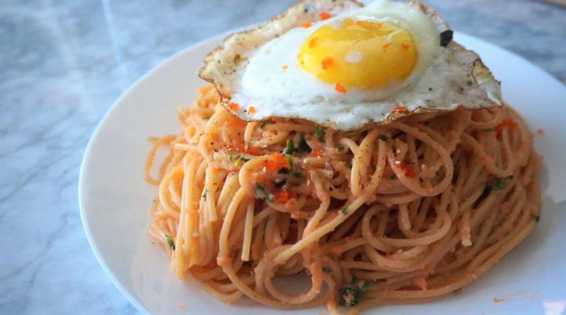 Masago Carbonara Pasta Recipe – Inspired by Cafe de L'Orangerie