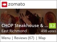Chop Steakhouse on Urbanspoon