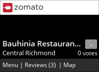 Bauhinia on Urbanspoon
