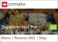 Toyotomi on Urbanspoon