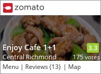 Enjoy Cafe 1+1 餐廳 on Urbanspoon
