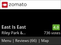 East Is East (Main) on Urbanspoon