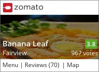 Banana Leaf (Fairview) on Urbanspoon