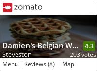 Damien's Belgian Waffles on Urbanspoon