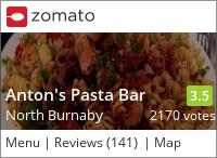 Anton's Pasta Bar on Urbanspoon