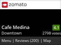 Cafe Medina on Urbanspoon