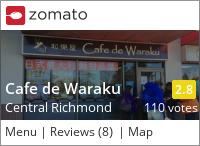 Cafe de Waraku 和樂屋 on Urbanspoon