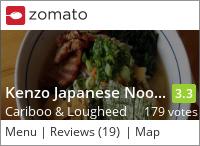 Kenzo Japanese Noodle House on Urbanspoon