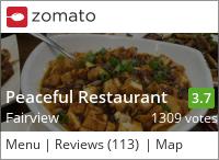 Peaceful Restaurant on Urbanspoon