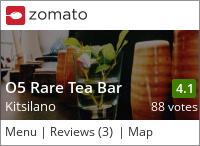 O5 Rare Tea Bar on Urbanspoon