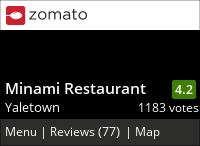 Minami on Urbanspoon