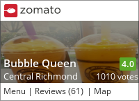 Bubble Queen on Urbanspoon