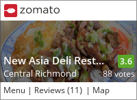 New Asia Deli Restaurant on Urbanspoon