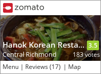 Hanok Korean Restaurant 韓屋 on Urbanspoon