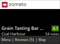 Grain Tasting Bar on Urbanspoon