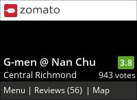 G-Men / Ramen Izakaya @ NanChuu 南廚 on Urbanspoon