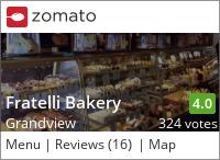 Fratelli Bakery on Urbanspoon