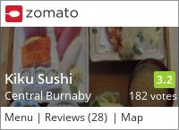 Kiku Sushi on Urbanspoon