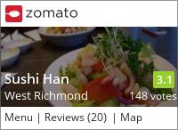 Sushi Han on Urbanspoon