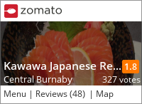 Kawawa Japanese Restaurant on Urbanspoon
