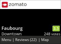 Faubourg on Urbanspoon