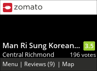 Man Ri Sung Korean Restaurant 萬里城 on Urbanspoon