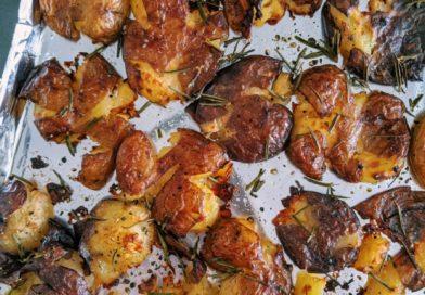 Crispiest Rosemary Smashed Potato Recipe