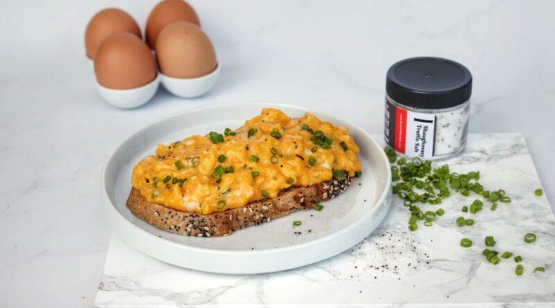 Gordon Ramsay Scrambled Eggs Recipe – using Fraser Valley Salt Co. Shaughnessy Truffle Salt